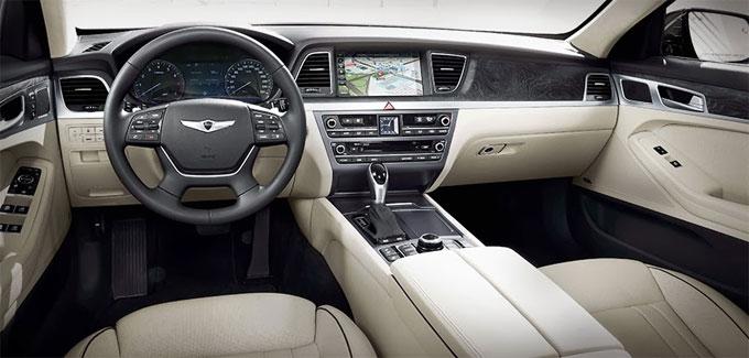 Интерьер (салон) нового Hyundai Genesis 2014