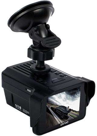 Видеорегистратор Lexand LRD-2000 с продвинутым радар-детектором
