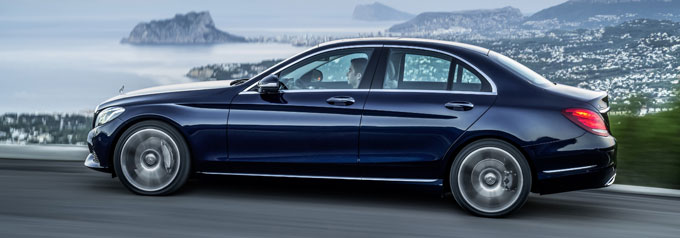 Mercedes-Benz C class 2014 в профиль
