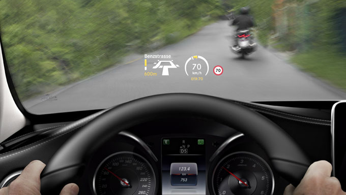 Mercedes-Benz C-class 2014 проекционный дисплей