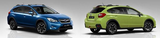 Обновленный Subaru XV 2014 - новые цвета кузова Quartz Blue Pearl и Plazma Green Pearl