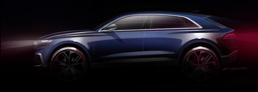 Концепт Audi Q8 - 2017 - в профиль