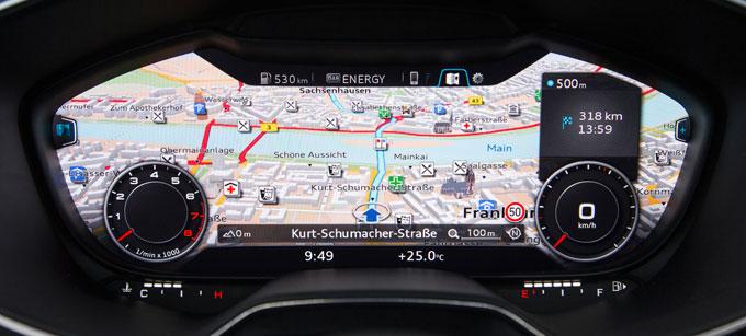 Audi TT 2015 интерьер (салон) - панель приборов