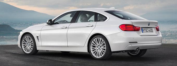 Новый BMW 4 серии Грaн Купе2014 - вид сзади