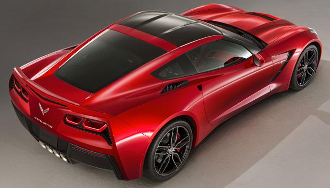 Corvette Stingray - задняя часть