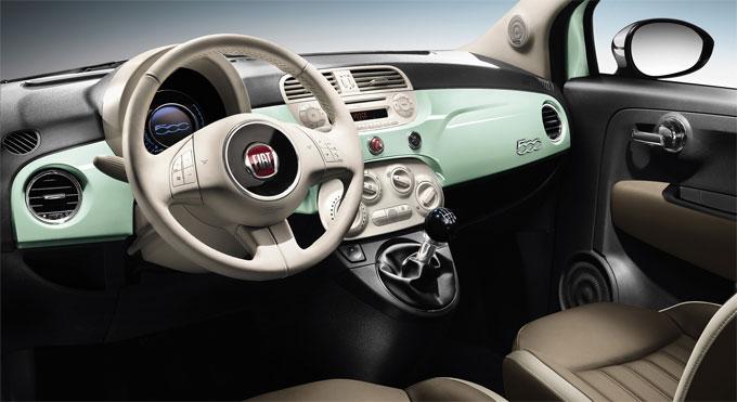 Интерьер (салон) FIAT 500 2014