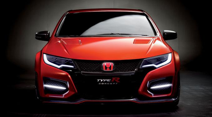 Хонда Сивик Type R концепт 2014 - анфас
