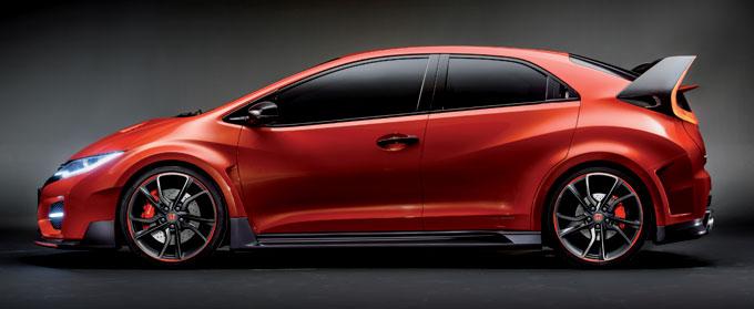 Honda Civic Type R concept 2014 - профиль