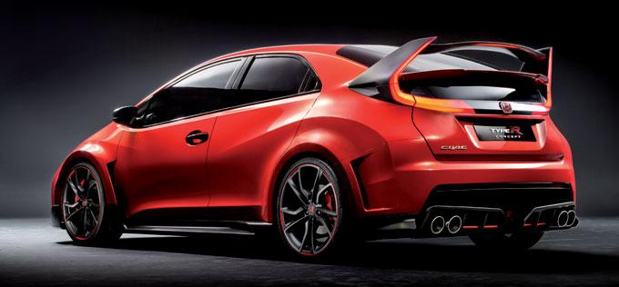 Хонда Сивик Type R концепт 2014 - сзади