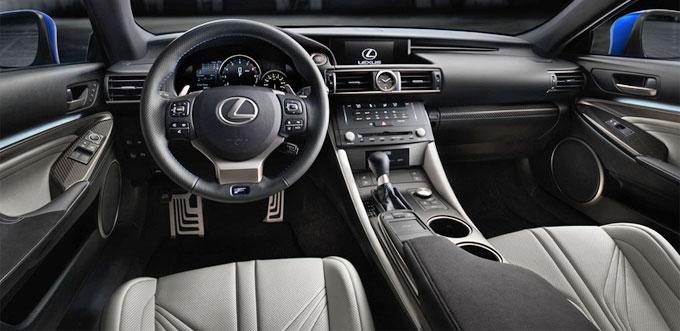 Интерьер Lexus RC 2015