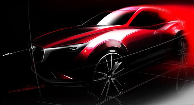Mazda CX-3 2015 - скетч