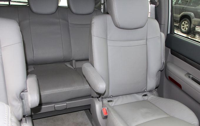 Интерьер (салон) SsangYong Stavic - 3-й ряд сидений.