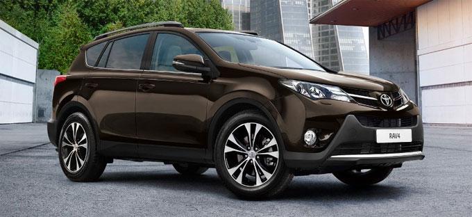 Обновленная Тойота RAV4 2014 - цвет темно-коричневый металлик