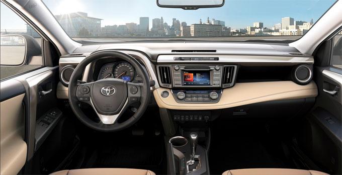 Интерьер (салон) Toyota RAV4 2014, обивка бежевая кожа