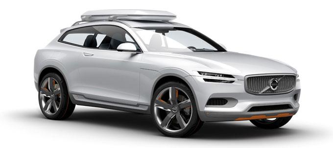 Volvo XC Concept Coupe - концепт будущего XC90 2015 - фото спереди 3/4