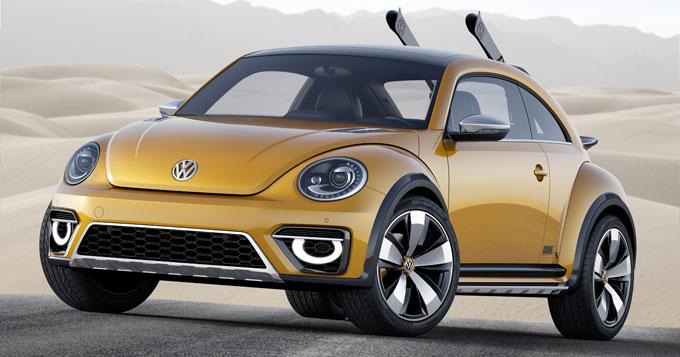 VW Beetle Dune Concept 2014 - спереди