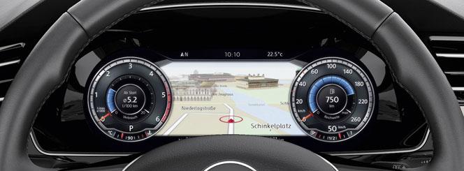 Интерактивная приборная панель Active Info Display VW Passat