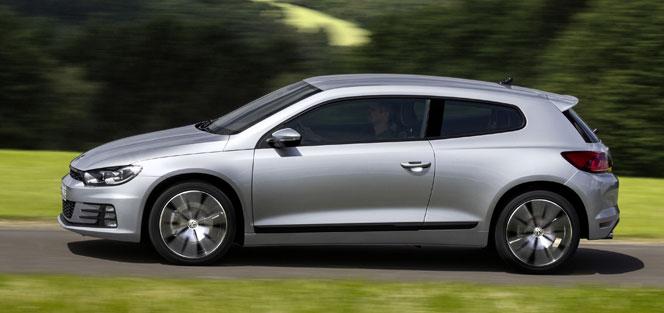 VW Scirocco  2015 в профиль