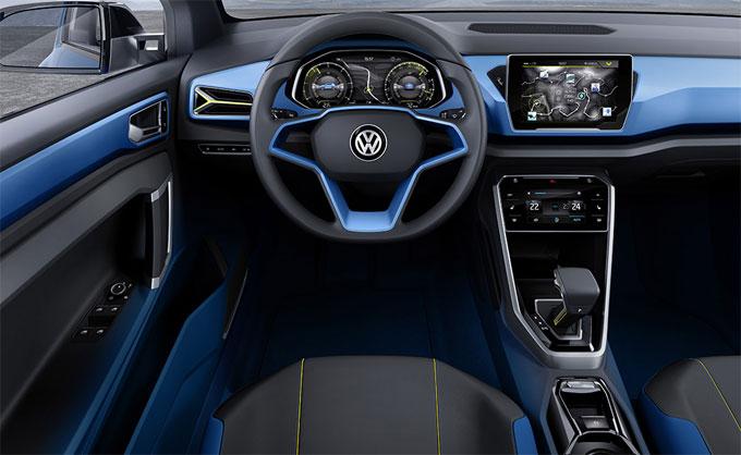 Интерьер (салон) Volkswagen T-Roc Concept 2014